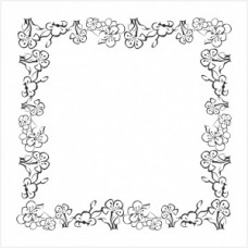 Flower frame - P01-285 Stamp