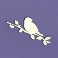 Bird on a twig 03 - 1111C Cardboard
