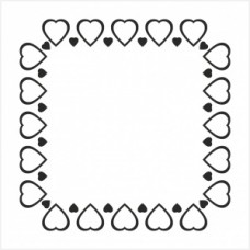 Hearts frame - P01-287 Stamp