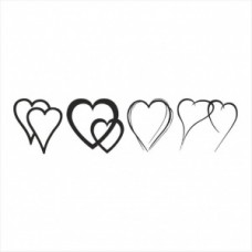 Hearts set - P01-248 Stamp
