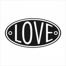 Love badge - P01-235B Stamp