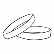 Wedding rings - P01-249 Stamp