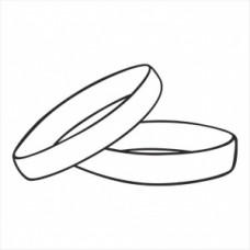 Wedding rings - P01-249 Stamp