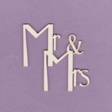 Mr & Mrs - T0610 Cardboard