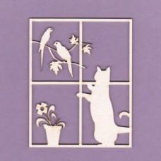 Cat in a window - 0709 Cardboard