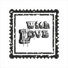 With love - postage stamp - P01-167 Stamp