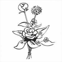 Bunch of flowers - P01-302 Stamp