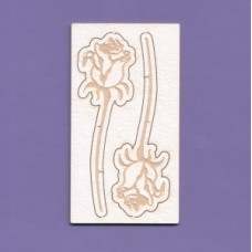 Roses engraved 2pcs - 1238 Cardboard