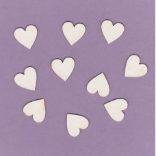 Hearts 10 pcs set - 0061 Cardboard