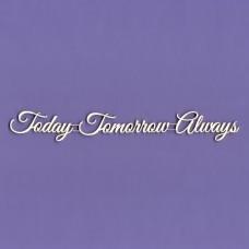 Today Tomorrow Always - 0220 Cardboard