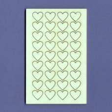 Micro hearts set - 0340 Cardboard