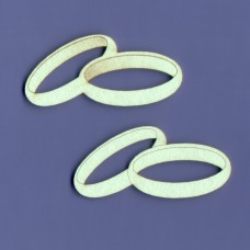Wedding rings 2 pcs - 0341 Cardboard