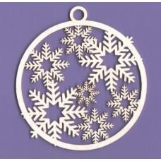 Snowy bauble - 0343 Cardboard