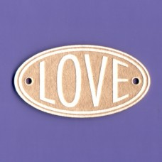 Love oval 2 - 0376 Cardboard