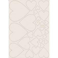 Classic hearts set - 0458A Cardboard