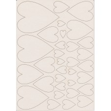 Romantic hearts set - 0458B Cardboard