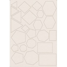 Geometric figures set - 0458D Cardboard
