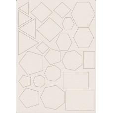 Geometric figures set - 0458D Cardboard