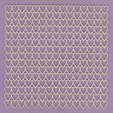 Panel simple hearts 15 x15 - 0506M Cardboard