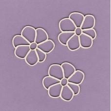 Flowers 3 pcs - 0528 Cardboard