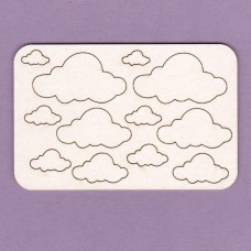 Clouds 12 pcs - 0529 Cardboard