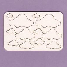 Clouds 12 pcs - 0529 Cardboard