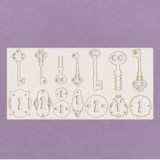 Keys and holes 15 pcs - 0562 Cardboard