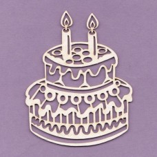 Cake with two candles - 0695 Cardboard