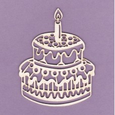 Cake with one candle - 0696 Cardboard