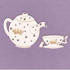 Afternoon tea small engraving - 0704 Cardboard