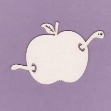Wormy apple - 0774 Cardboard