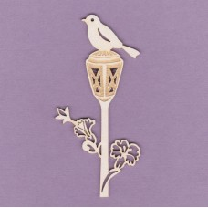 Lamp with a bird - 0797 Cardboard