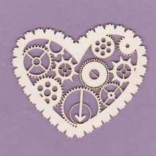 Heart with gearwheels - 0807 Cardboard