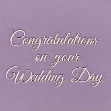 Congratulation on your wedding day - 0819 Cardboard