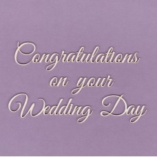 Congratulation on your wedding day - T0819 Cardboard