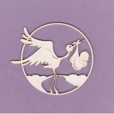 Stork engraved 01 - 0873 Cardboard
