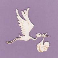 Stork engraved 03 - 0875 Cardboard