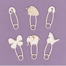 Safety pins 6 pcs - 0880 Cardboard