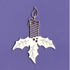 Christmas candle - 0909 Cardboard