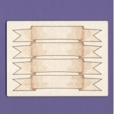 Ribbon base x 4 - 0975A Cardboard