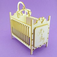 "Baby crib ""Boy Girl"" - 0987 Cardboard"