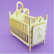 "Baby crib ""Boy Girl"" - T0987 Cardboard"