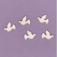 Doves 5 pcs - 0159 Cardboard