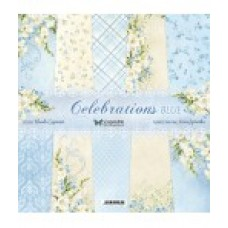 ScrapAndMe - Celebrations Blue - 12x12 Paper Set