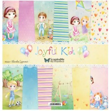 ScrapAndMe - Joyful Kids - 12x12 Paper Set