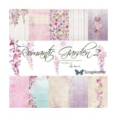 ScrapAndMe - Romantic Garden - 12x12 Paper Set