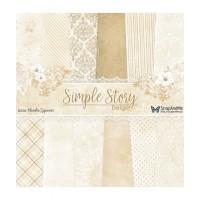 ScrapAndMe - Simply Story Beige - 12x12 Paper Set
