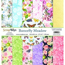 ScrapBoys - Butterfly Meadow - 12x12 Paper Set