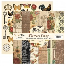 ScrapBoys - Flowers Story- 12x12 Paper Set