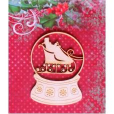 Snow globe with Santa Claus - 0037 Cardboard